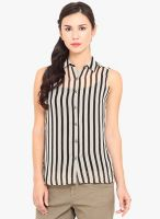 La Stella Black Striped Shirt