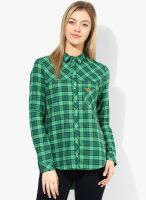 United Colors of Benetton Green Checked Shirt