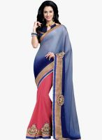 Shonaya Blue Embellished Saree