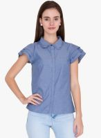 Alibi Blue Solid Shirt