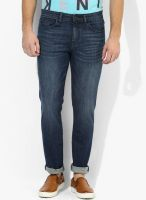 Calvin Klein Jeans Blue Mid Rise Skinny Fit Jeans
