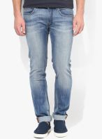 French Connection Blue Mid Rise Skinny Fit Jeans