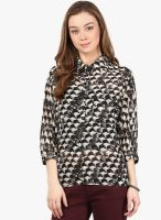 Harpa Black Printed Shirt