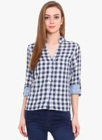 Pryma Donna Blue Colored Checked Shirt