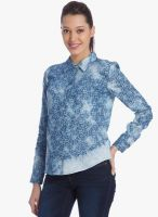 Vero Moda Blue Printed Shirt