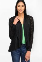Color Cocktail Black Printed Shrug