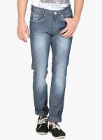 Mufti Grey Mid Rise Slim Fit Jeans