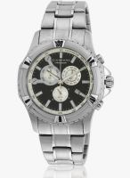 Giordano Gx1570-11 Silver/Black Chronograph Watch