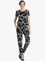 Vero Moda Black Printed Jumpsuit