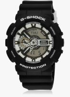 Casio G-Shock Ga-110Bw-1Adr (G620) Black/White Analog & Digital Watch