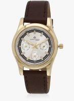 Daniel Klein Dk10563-1 Brown/Silver Analog Watch