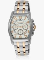Giordano P108-55 Two Tone/White Chronograph Watch+V4