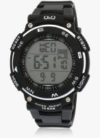 Q&Q M124j002y -S Black/Black Digital Watch