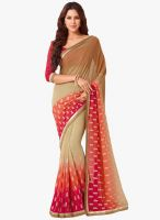 Vishal Multicoloured Embroidered Saree