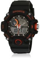 Fluid Dmf-006-Or01 Black/Black Analog & Digital Watch