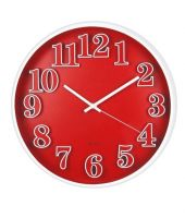 Basement Bazaar Chic Red Wall Clock 12 Inches
