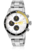 Gio Collection Gad0040-D Silver/Yellow Chronograph Watch