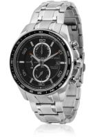 CITIZEN Eco Drive Titanium Ca0341-52E Silver/Black Chronograph Watch