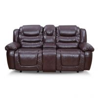 Royal Oak Wave Two Seater Recliner Brown