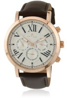 Daniel Klein Dk10396-1 Brown/Silver Analog Watch