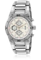 Florence F8058W Silver/White Chronograph Watch