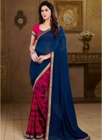Vishal Blue Printed Saree