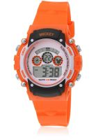 Disney Mickey 1K2314P-Mc-005Oe Orange/White Digital Watch