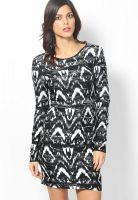 Vero Moda Black Colored Printed Bodycon Dress