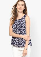 Mayra Blue Printed Blouse