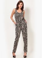 Vero Moda Sleeveless Black Printed Jumpsuit