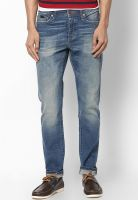 Jack & Jones Blue Regular Fit Jeans (Mike)