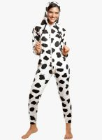 Coucou by Zivame White Printed Jumpsuit