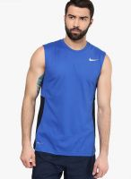 Nike As Crossover Sleeveless Blue Basketball Sports Jersey