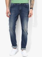 Tom Tailor Blue Mid Rise Skinny Fit Short