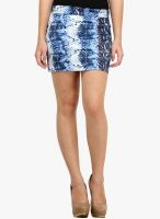 Cation Blue Flared Skirt