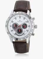Maxima Attivo 24150Lmgi Brown/White Chronograph Watch