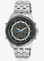 Titan 9495Km01J Silver/Green Analog & Digital Watch