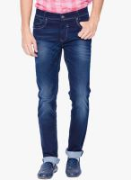 Mufti Blue Mid Rise Narrow Fit Jeans