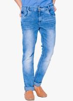 Mufti Blue Mid Rise Skinny Fit Jeans