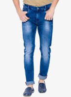 Mufti Blue Mid Rise Slim Fit Jeans