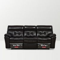 At Home By Nilkamal Beverly Three Seater Recliner Chocolate