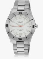 Omax Ss-418 Silver/White Analog Watch