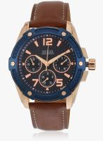 Guess W0600g3 Brown/Blue Analog Watch