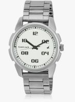 Fastrack 3124Sm01 Silver/Silver Analog Watch