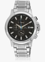 Maxima Attivo 27710Cmgi Silver/Black Chronograph Watch
