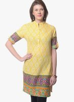 Meira Yellow Printed Kurtas