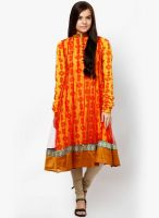 Aabroo Yellow Printed Anarkali