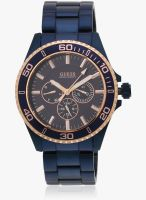 Guess Guess Mens Sport Blue/Blue Analog Watch