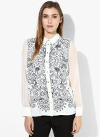 River Island Bandana Print Split Back Shirt