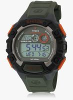 Timex T49972-Sor Green/Grey Digital Watch